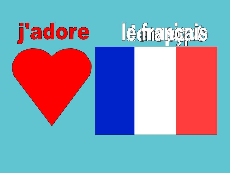 j adore la musique le français le sport