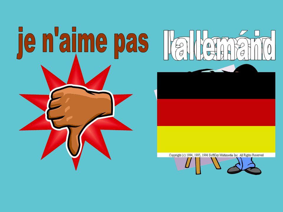 je n aime pas l allemand la géo le dessin