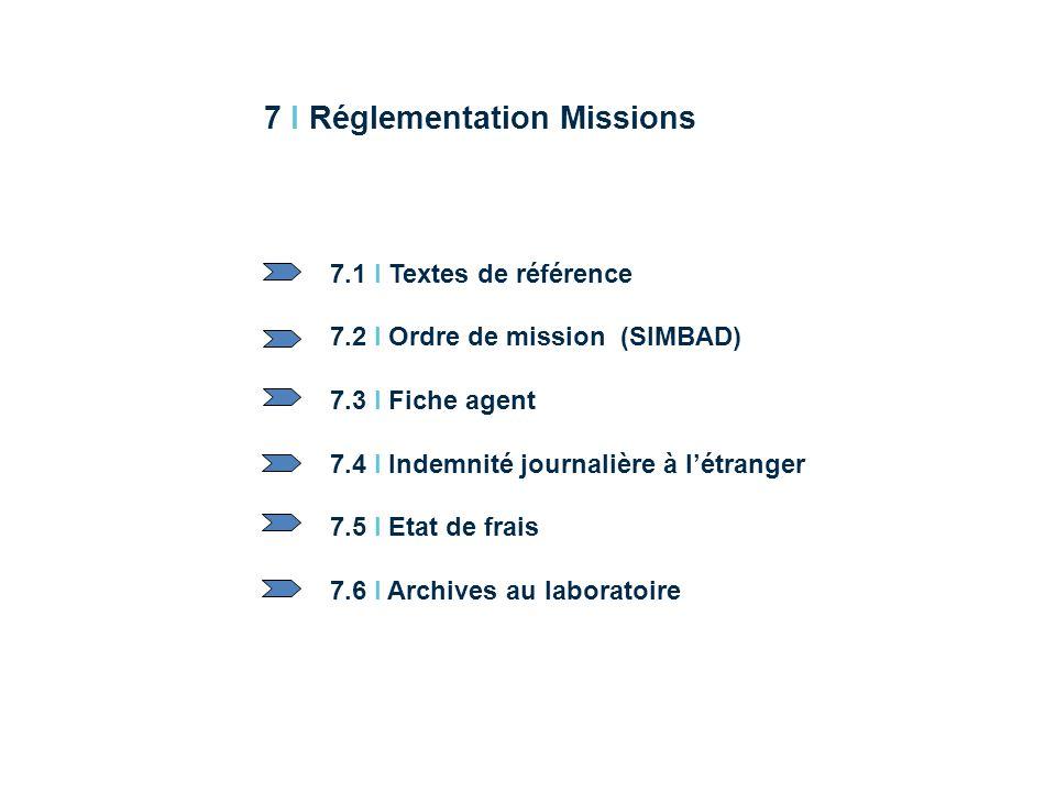 7 I Réglementation Missions