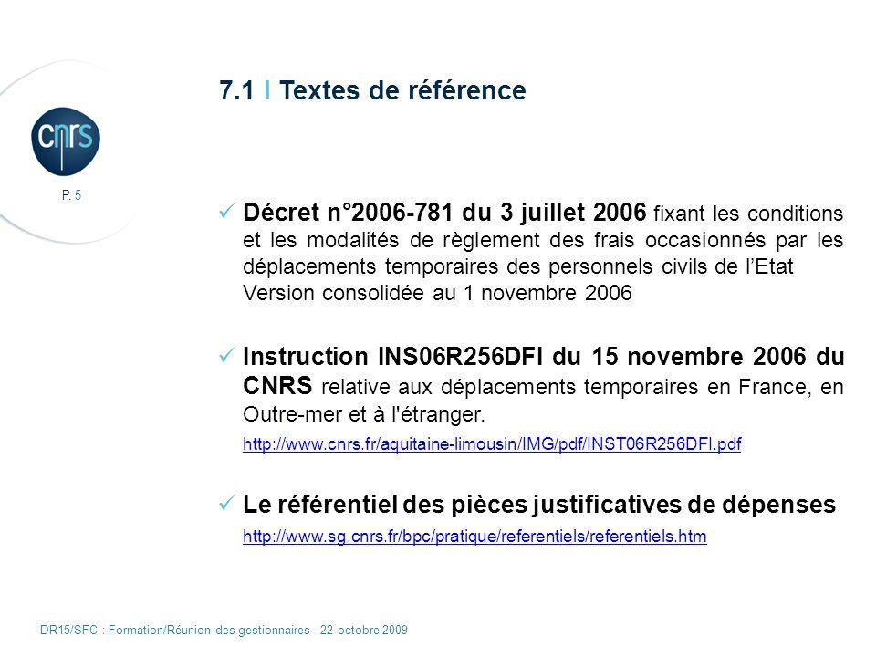 7.1 I Textes de référence
