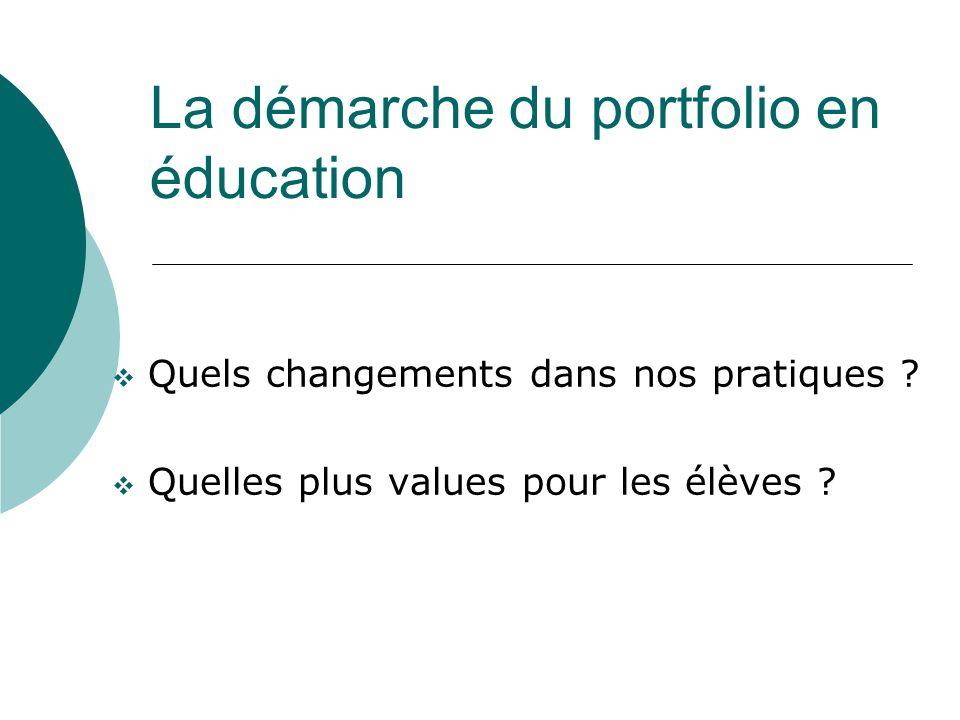 La démarche du portfolio en éducation