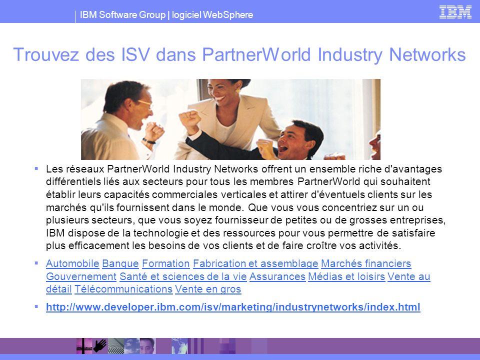 Trouvez des ISV dans PartnerWorld Industry Networks