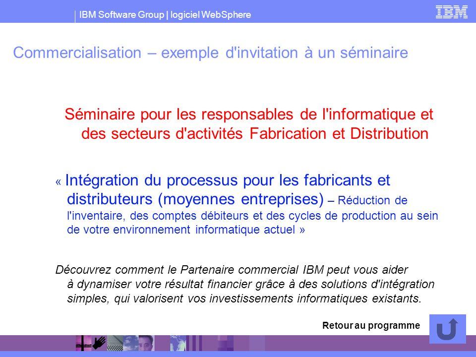 Commercialisation – exemple d invitation à un séminaire