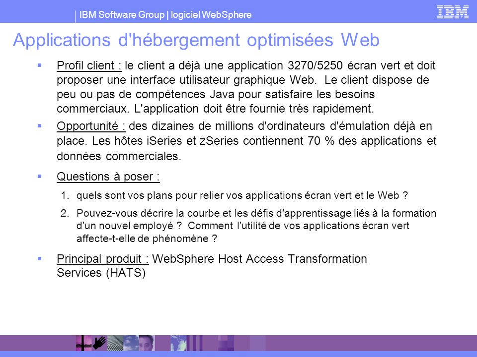 Applications d hébergement optimisées Web