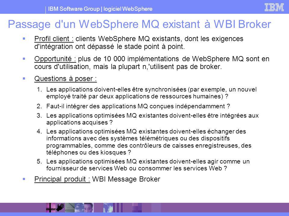 Passage d un WebSphere MQ existant à WBI Broker
