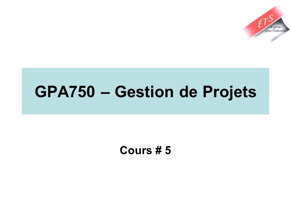GPA750 – Gestion de Projets