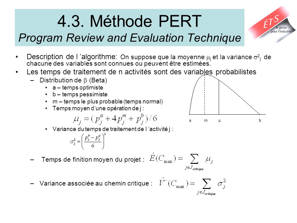 4.3. Méthode PERT Program Review and Evaluation Technique