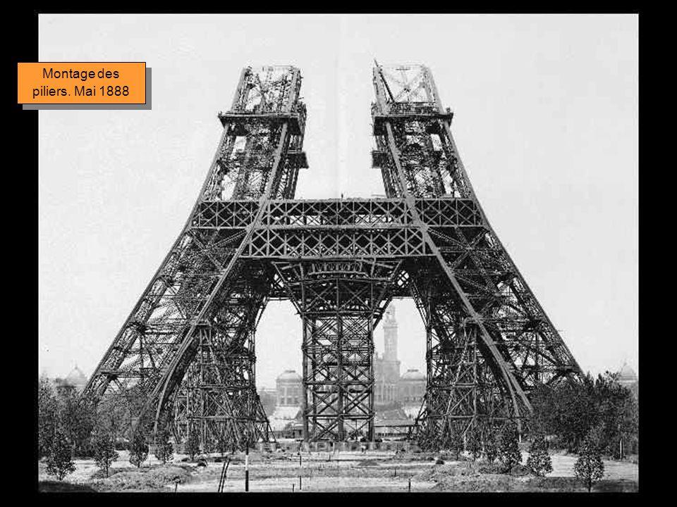 Montage des piliers. Mai 1888