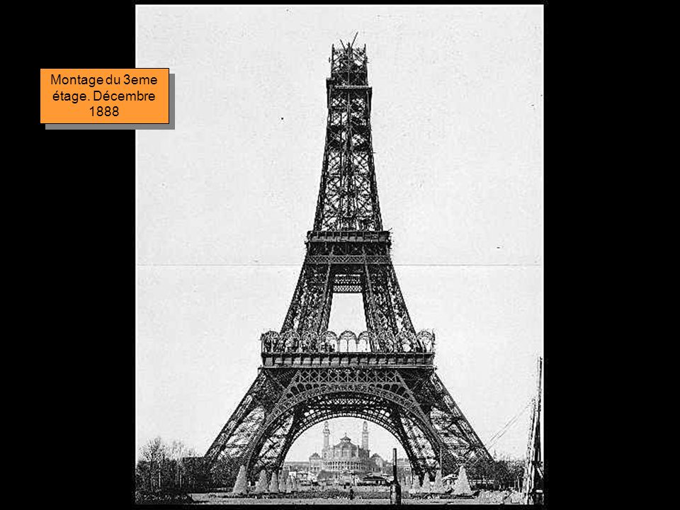 Montage du 3eme étage. Décembre 1888