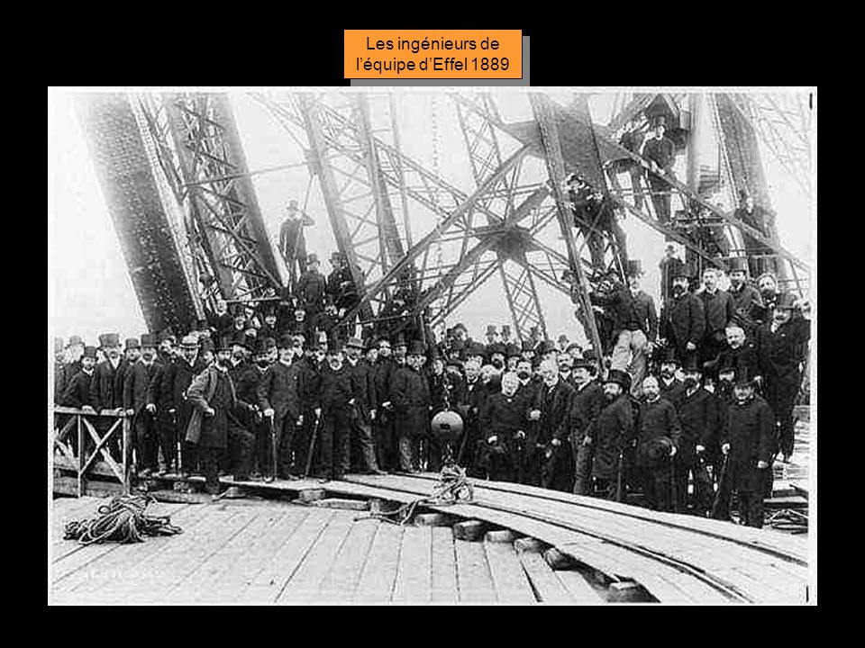 Les ingénieurs de l'équipe d'Effel 1889