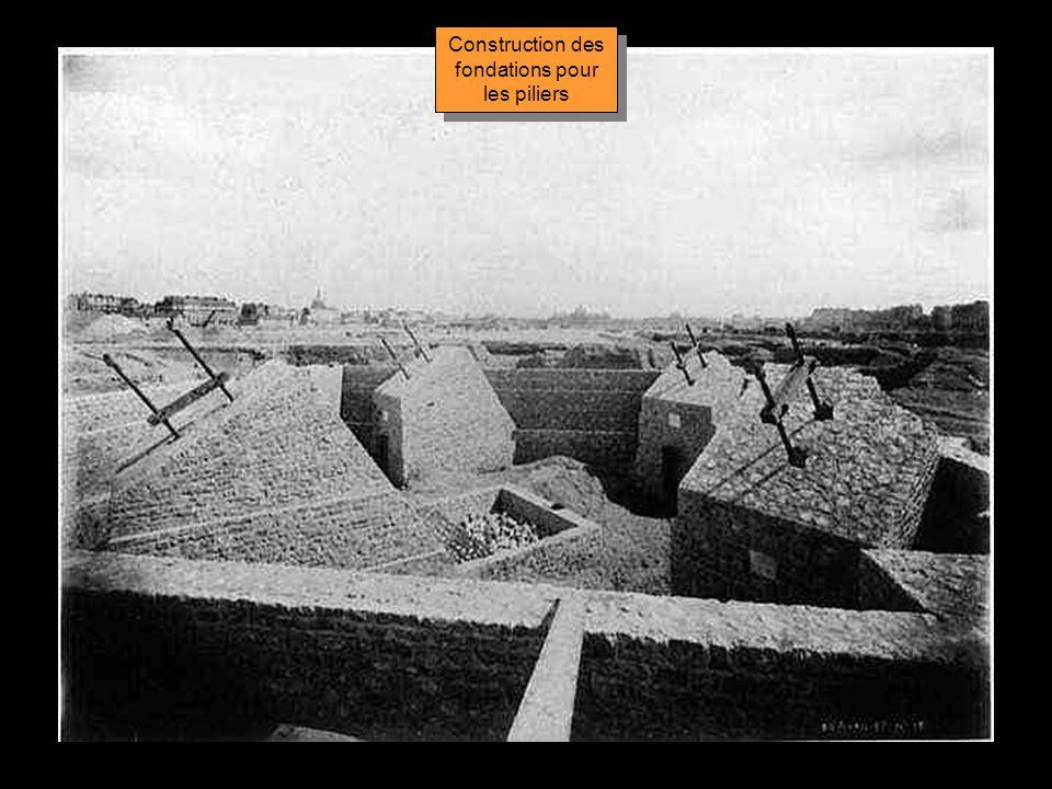 Construction des fondations pour les piliers