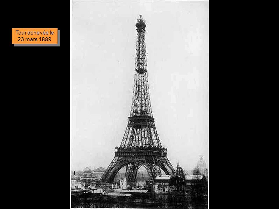 Tour achevée le 23 mars 1889