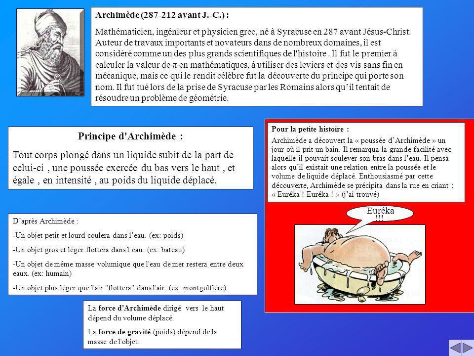 Archimède (287-212 avant J.-C.) :