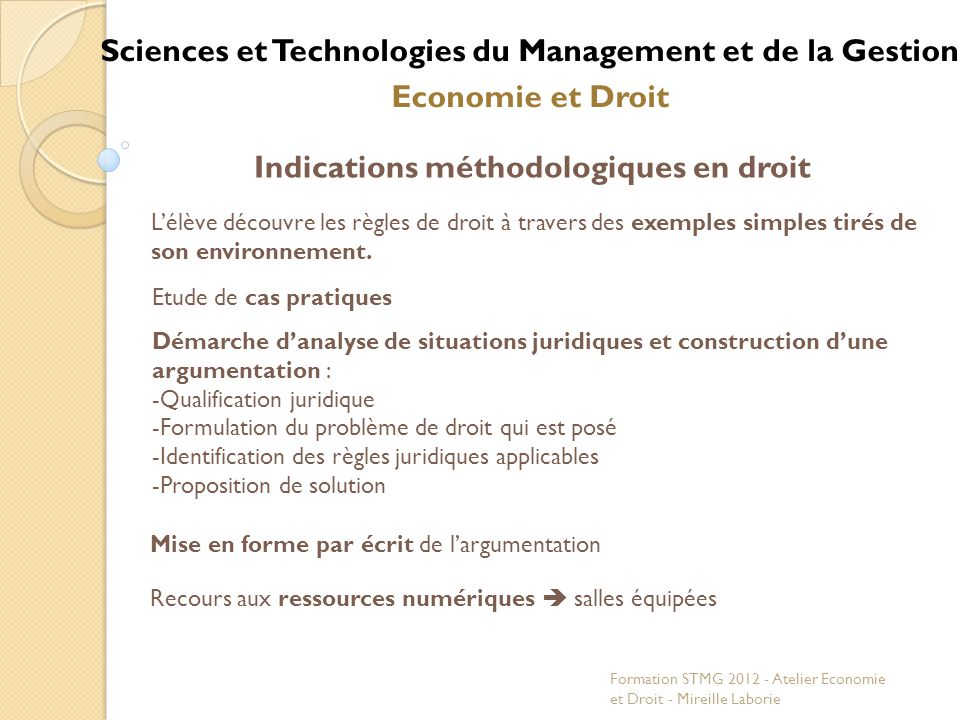 Sciences et Technologies du Management et de la Gestion