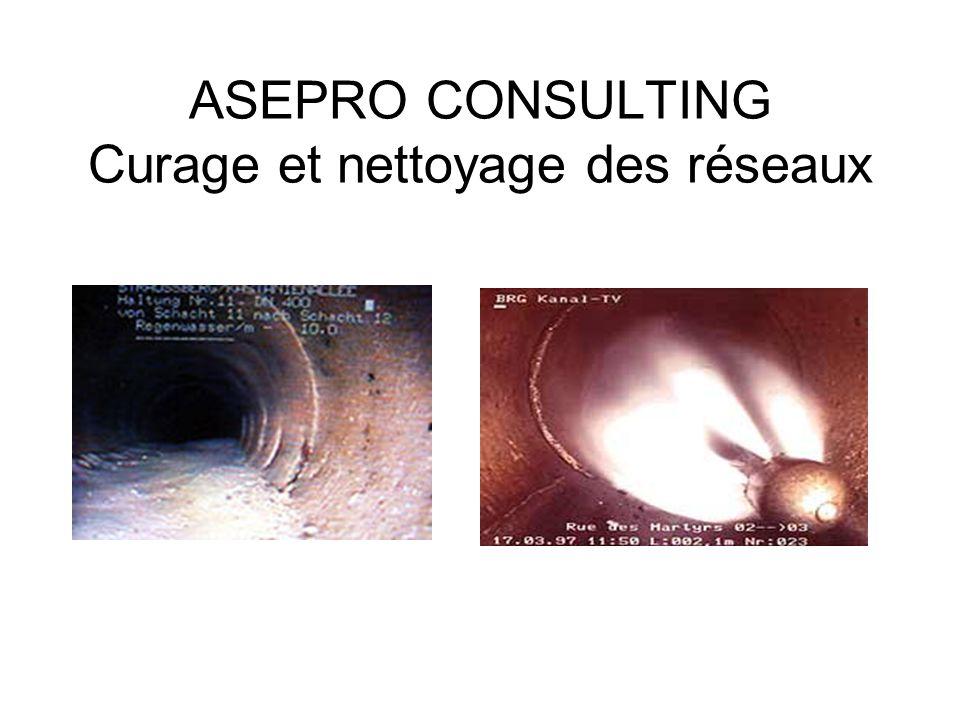 ASEPRO CONSULTING Curage et nettoyage des réseaux