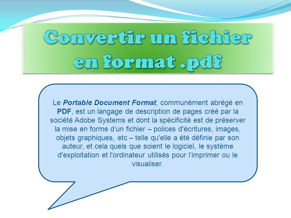 Convertir un fichier en format .pdf