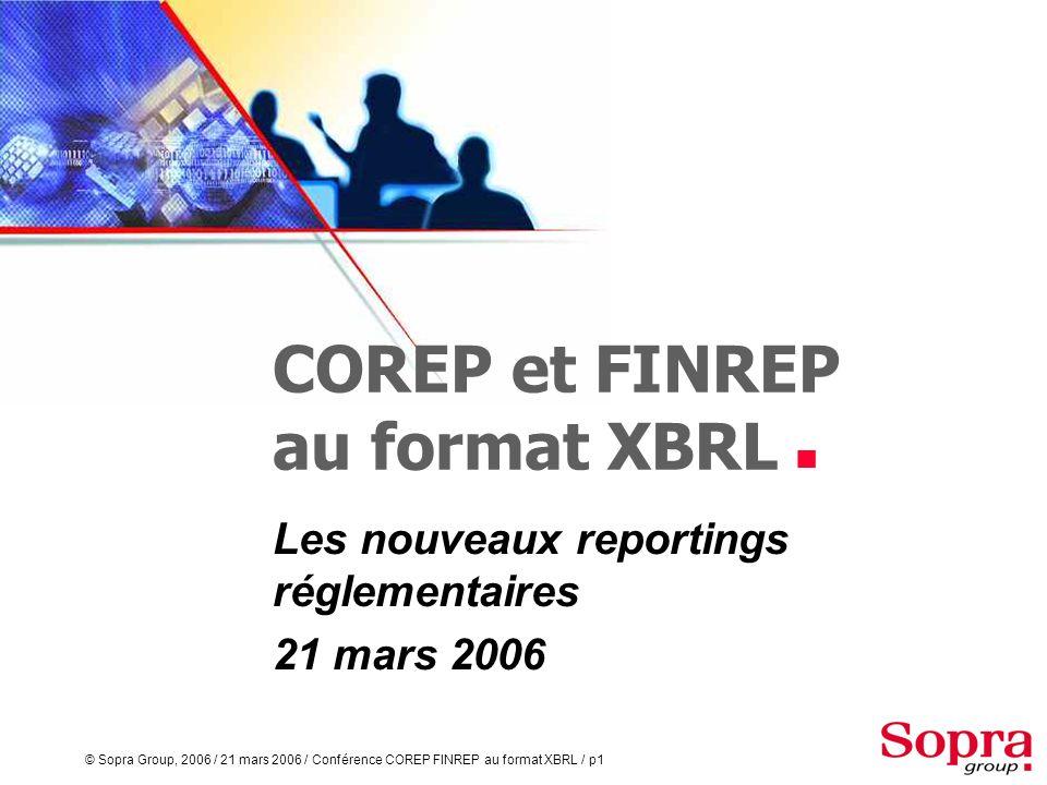 COREP et FINREP au format XBRL 