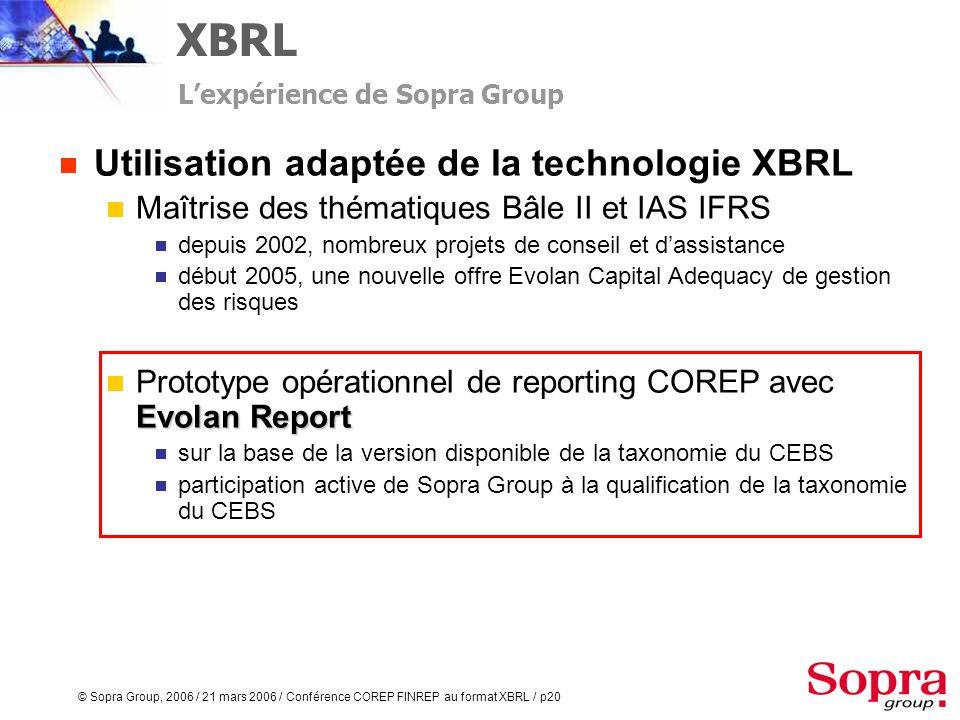 XBRL Utilisation adaptée de la technologie XBRL