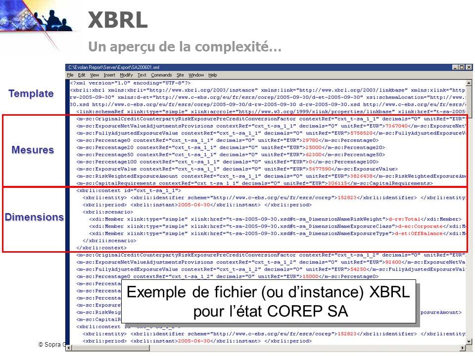 Exemple de fichier (ou d'instance) XBRL
