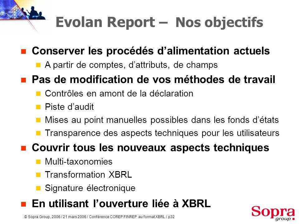 Evolan Report – Nos objectifs