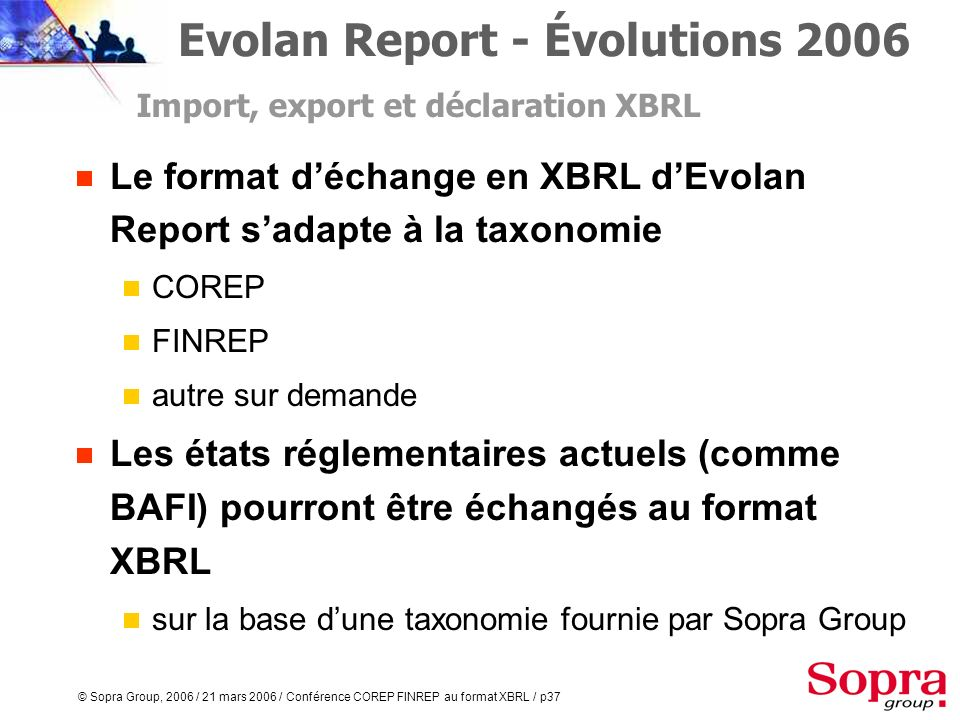 Evolan Report - Évolutions 2006