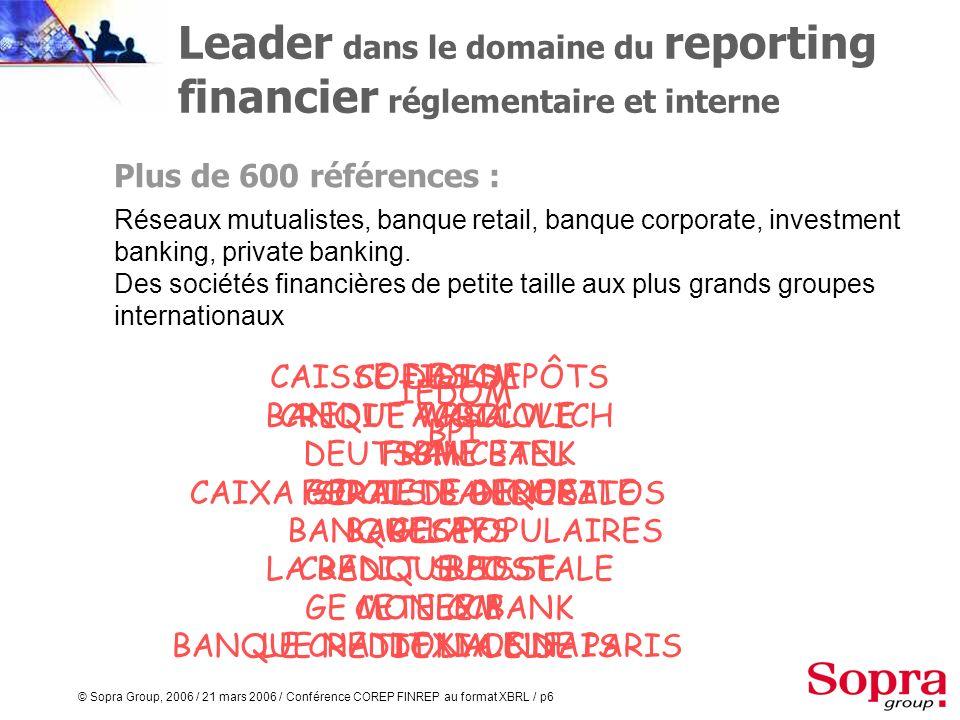 Leader dans le domaine du reporting financier réglementaire et interne