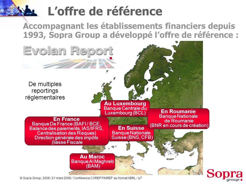 L'offre de référence Accompagnant les établissements financiers depuis 1993, Sopra Group a développé l'offre de référence :
