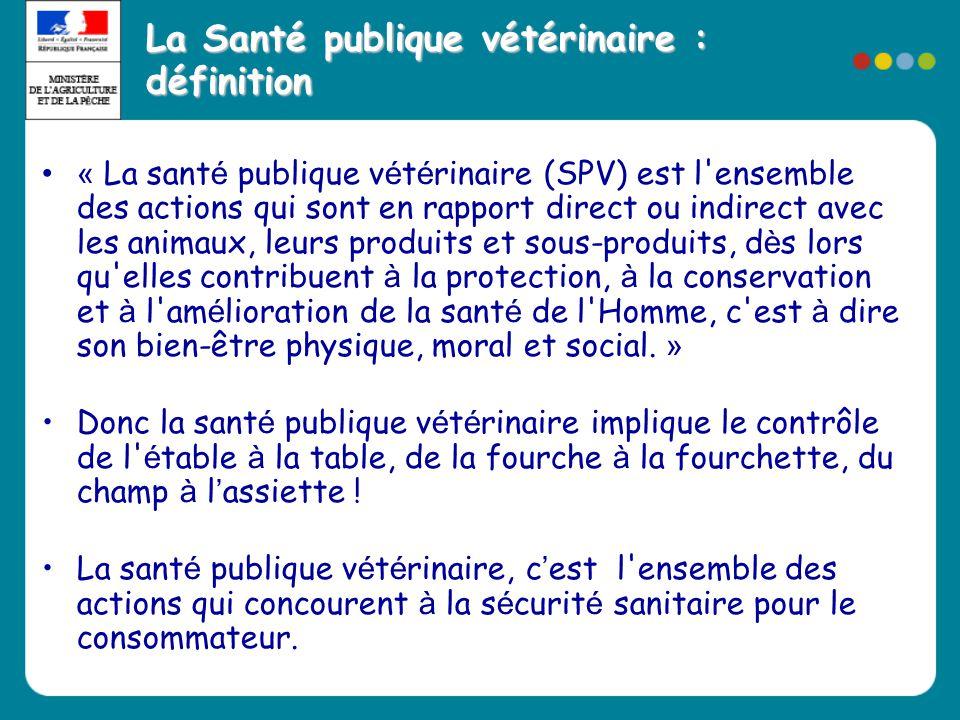 La Santé publique vétérinaire : définition