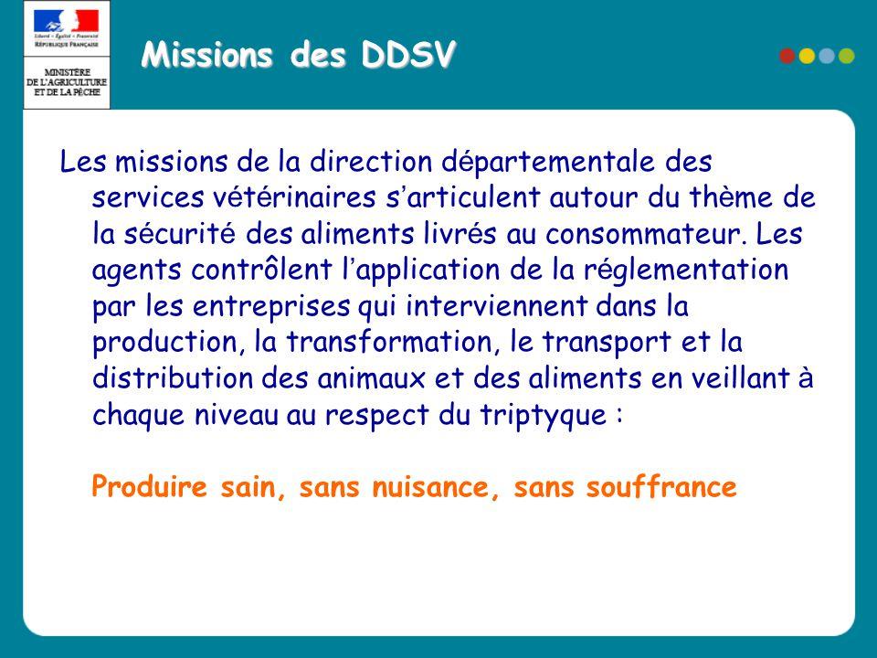Missions des DDSV