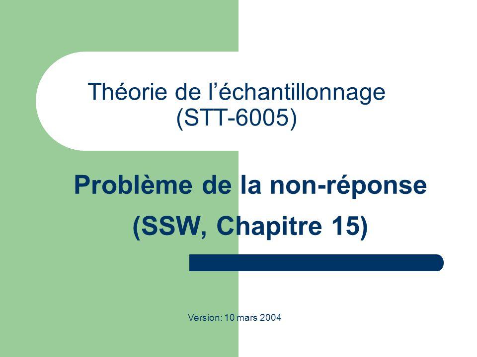 Théorie de l'échantillonnage (STT-6005)