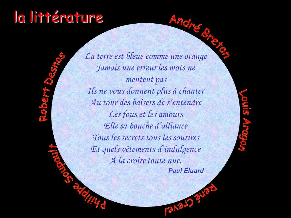 la littérature André Breton La terre est bleue comme une orange