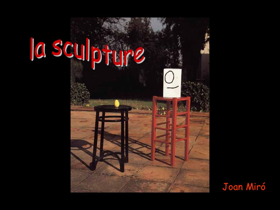 la sculpture Joan Miró Pascale Descent Serge Pepin