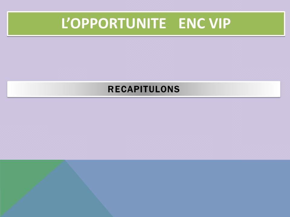 L'OPPORTUNITE ENC VIP RECAPITULONS 17 17