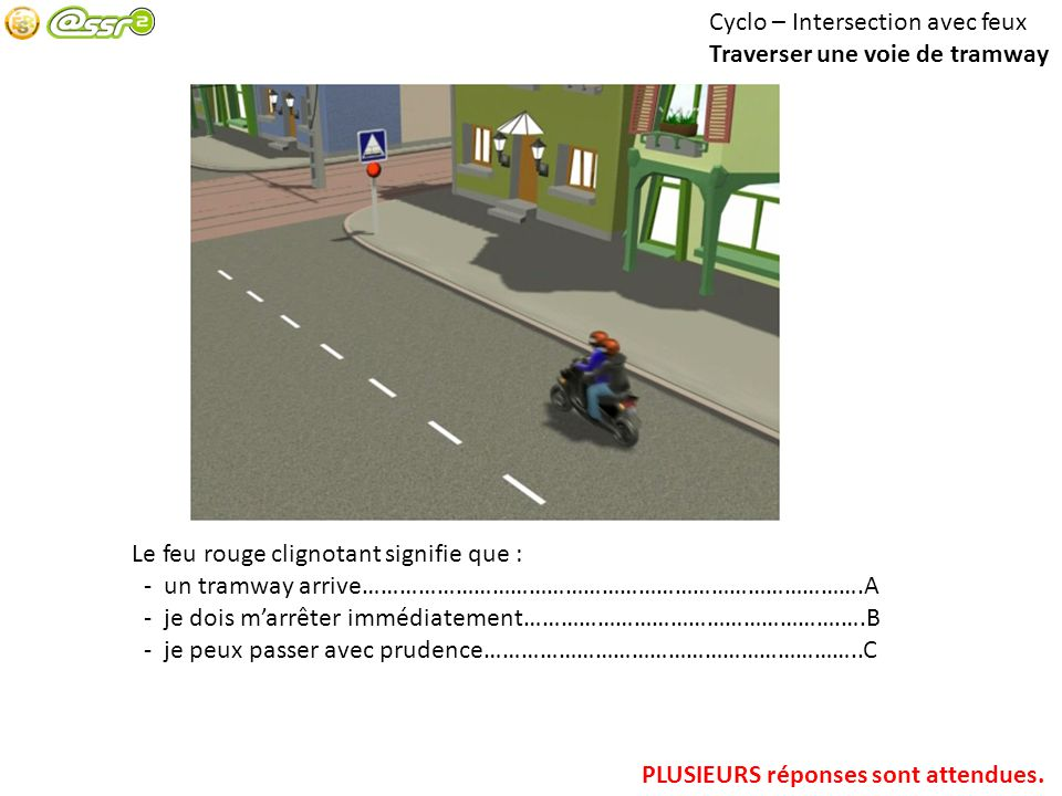 Cyclo – Intersection avec feux