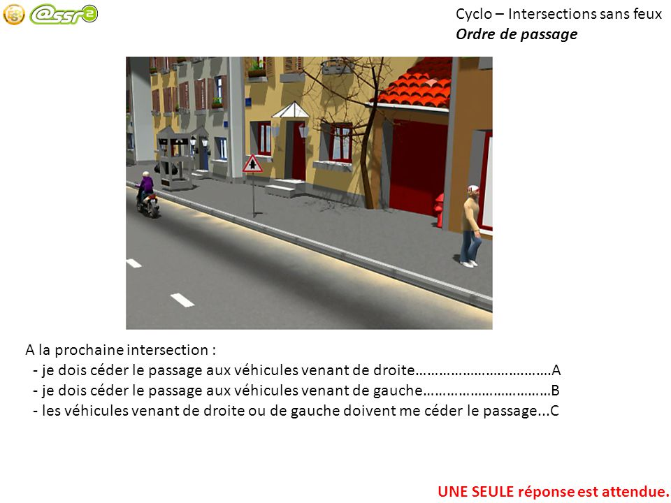 Cyclo – Intersections sans feux