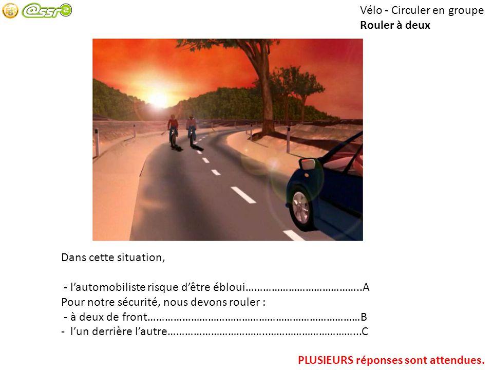Vélo - Circuler en groupe