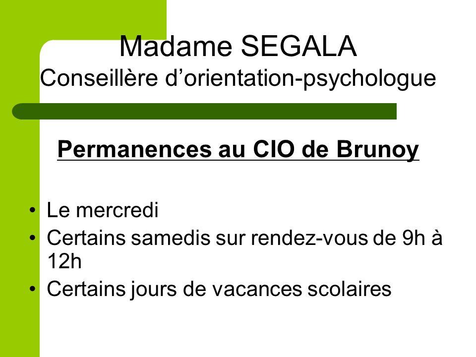 Madame SEGALA Conseillère d'orientation-psychologue