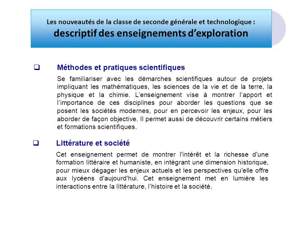 descriptif des enseignements d'exploration
