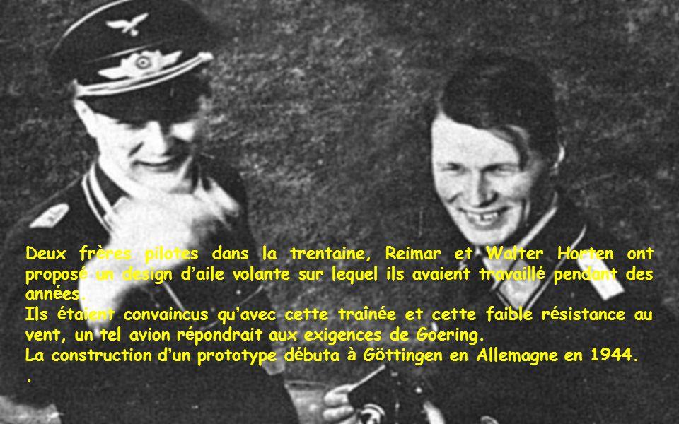 Deux frères pilotes dans la trentaine, Reimar et Walter Horten ont proposé un design d'aile volante sur lequel ils avaient travaillé pendant des années.