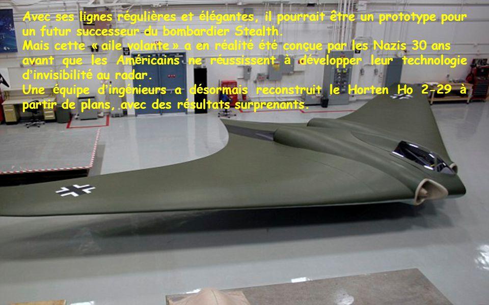 Avec ses lignes régulières et élégantes, il pourrait être un prototype pour un futur successeur du bombardier Stealth.