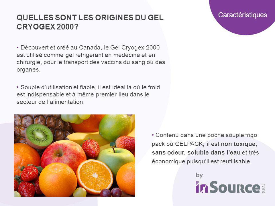 QUELLES SONT LES ORIGINES DU GEL CRYOGEX 2000