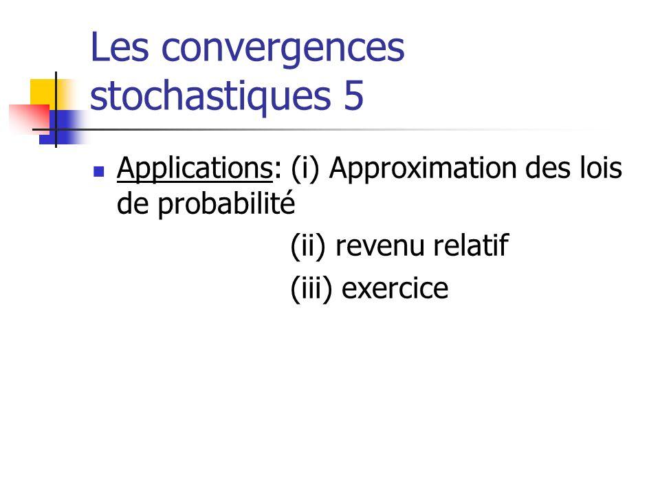 Les convergences stochastiques 5
