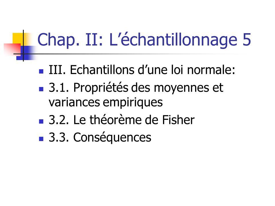 Chap. II: L'échantillonnage 5