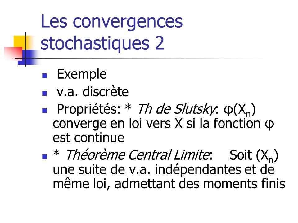 Les convergences stochastiques 2
