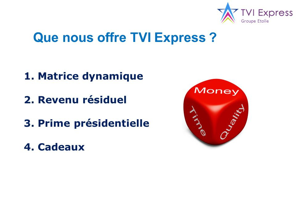 Que nous offre TVI Express