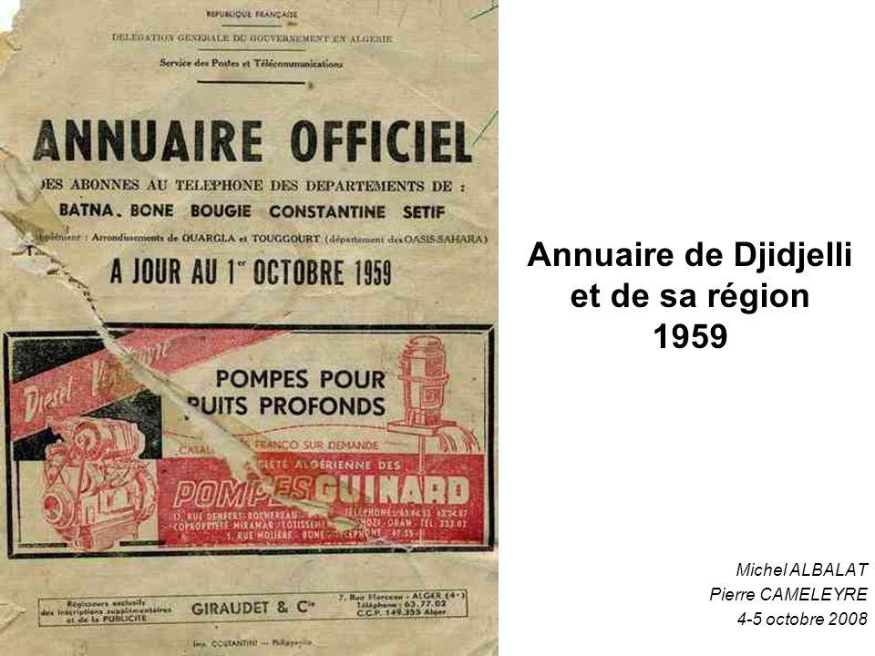 Annuaire de Djidjelli et de sa région 1959