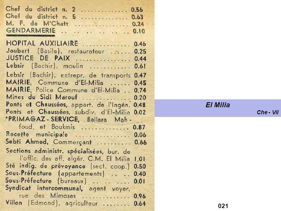 El Milia Che - Vil 021