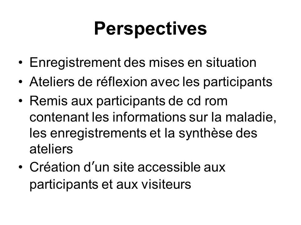 Perspectives Enregistrement des mises en situation