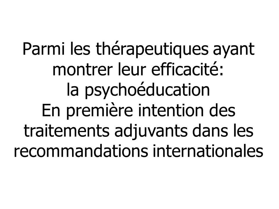 Parmi les thérapeutiques ayant montrer leur efficacité:
