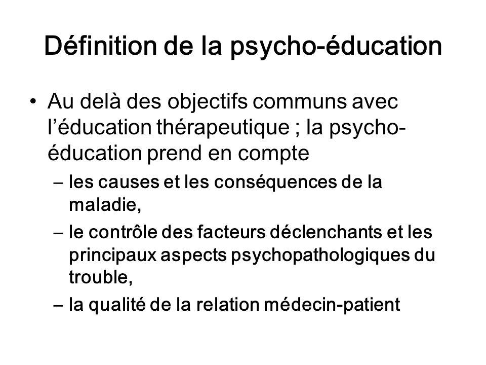 Définition de la psycho-éducation